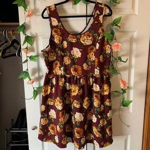 Floral Sleeveless Scuba Dress